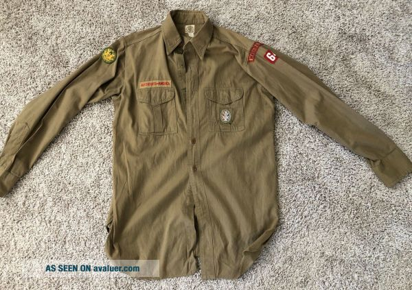 1930s - 40s Boy Scout Shirt w/Eagle scout type 2 Patch & Washington DC TRS Patch