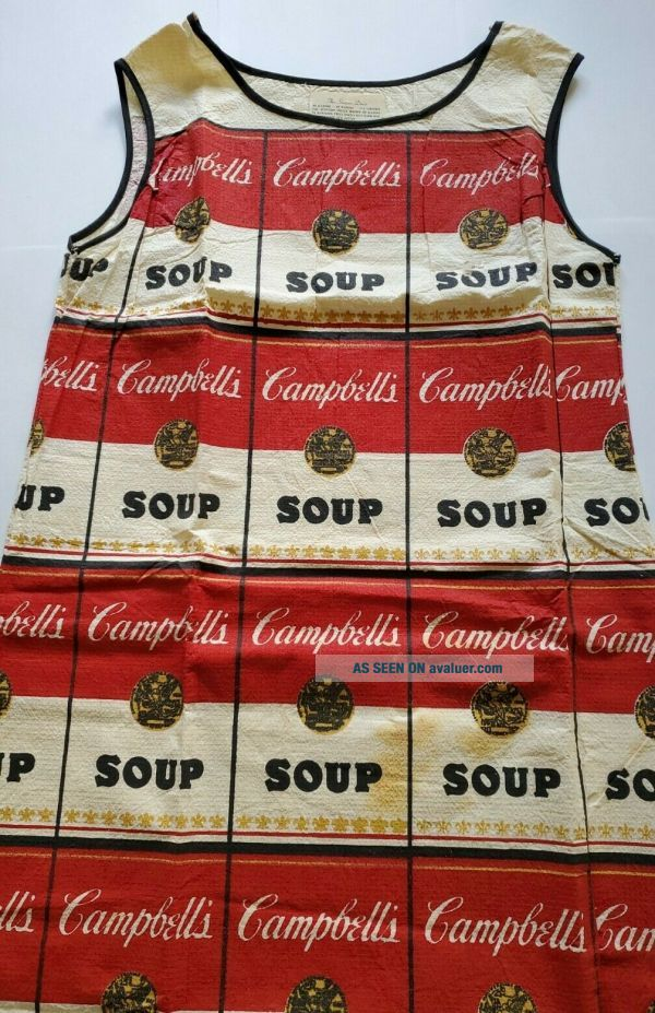 VTG 1960's CAMPBELL ' S SOUP The Souper Dress - Paper - Andy Warhol -.